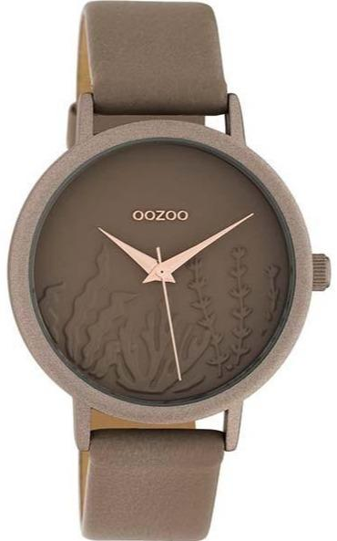 OOZOO C10603 36MM Timepieces Brown Leather Strap - Κοσμηματοπωλείο Goldy