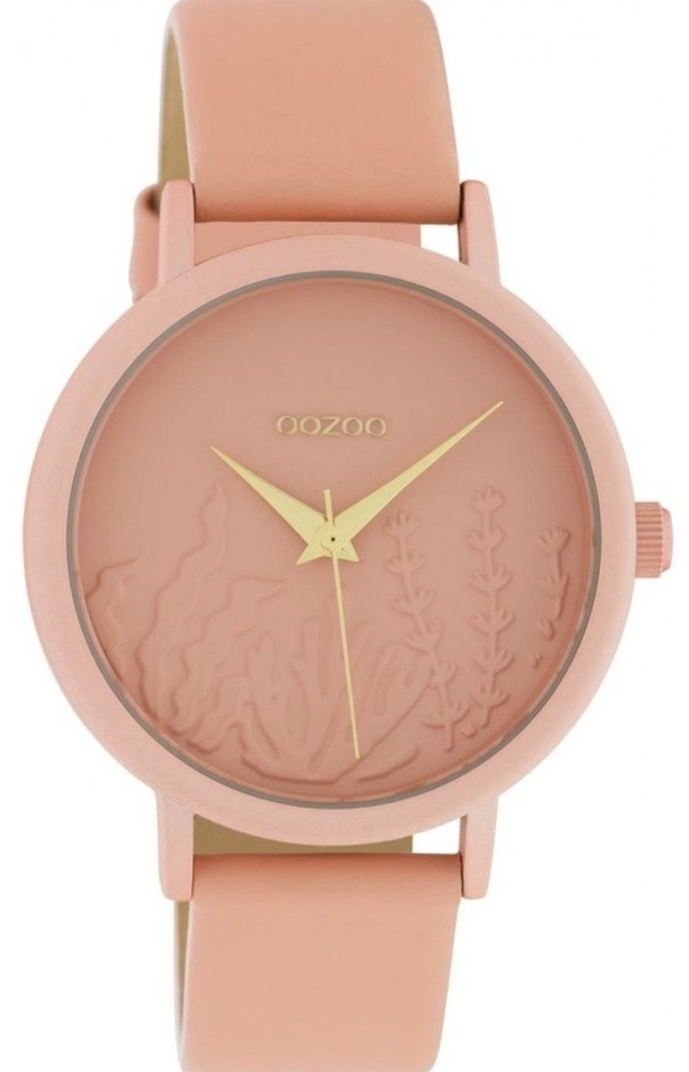 OOZOO C10604 36MM Timepieces Soft Pink Leather Strap - Κοσμηματοπωλείο Goldy