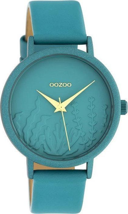 OOZOO C10606 36MM Timepieces Green Leather Strap - Κοσμηματοπωλείο Goldy