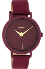 OOZOO C10609 36MM Timepieces Dark Red Leather Strap - Jewelry Goldy