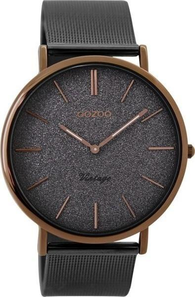 OOZOO C8861 40MM Timepieces Vintage Grey Metal Strap - Κοσμηματοπωλείο Goldy