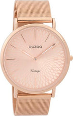 OOZOO C9343 40MM Timepieces Vintage Rose Metal Bracelet - Κοσμηματοπωλείο Goldy
