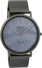 OOZOO C9368 40MM Timepieces Vintage Grey Metal Bracelet - Κοσμηματοπωλείο Goldy