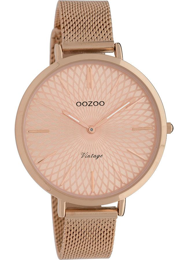 OOZOO C9864 40MM Timepieces Vintage Rose Gold Metal Bracelet - Κοσμηματοπωλείο Goldy