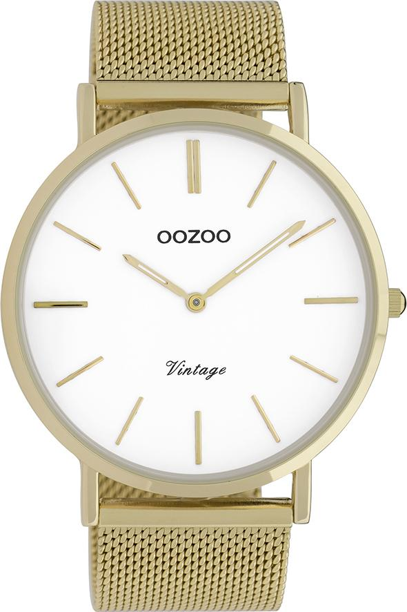 OOZOO C9908 44MM Timepieces Vintage Gold Metal Bracelet - Κοσμηματοπωλείο Goldy