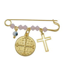 BC31001 Nursery for Newborn Baby Girl in Gold Plated Silver - Goldy Jewelry Store