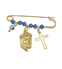 BC31020 Newborn in Gold Plated Silver with Christ - Goldy Jewelry
