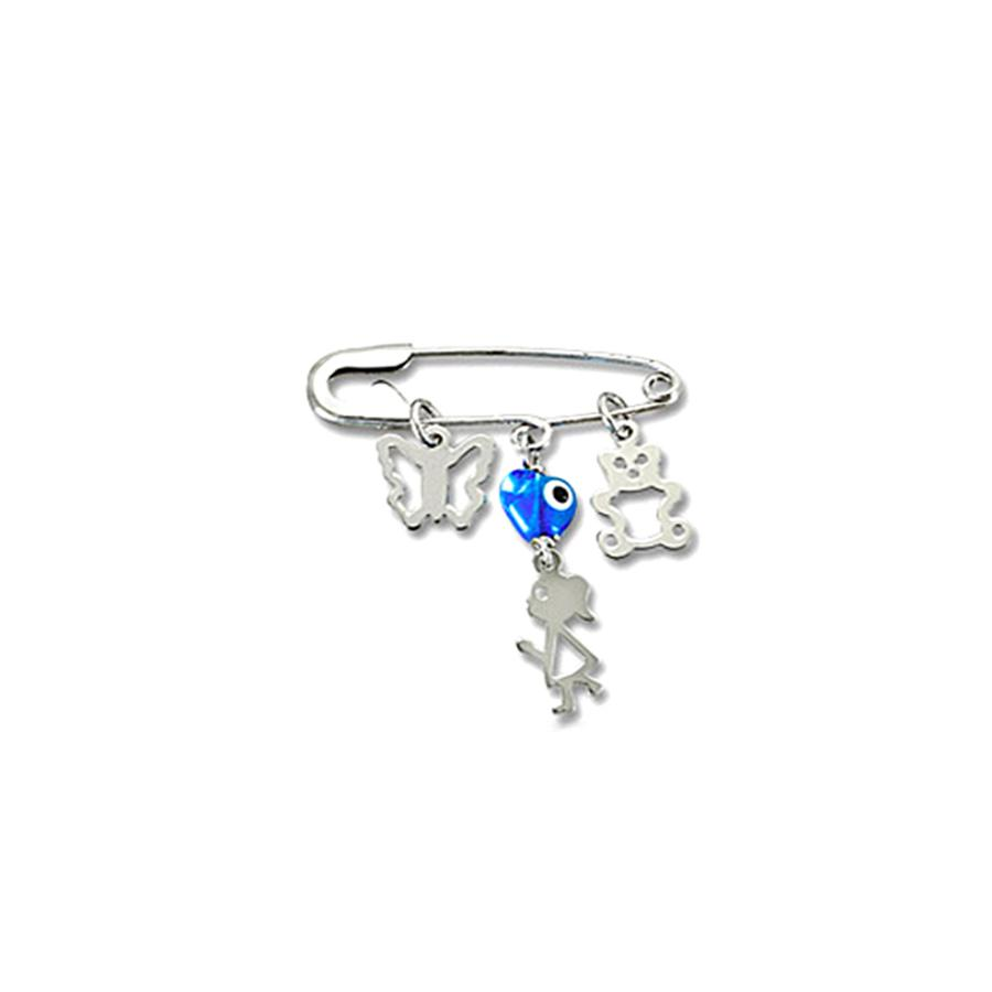 Nut for Newborn P153 White Gold K9 - Goldy Jewelry Store