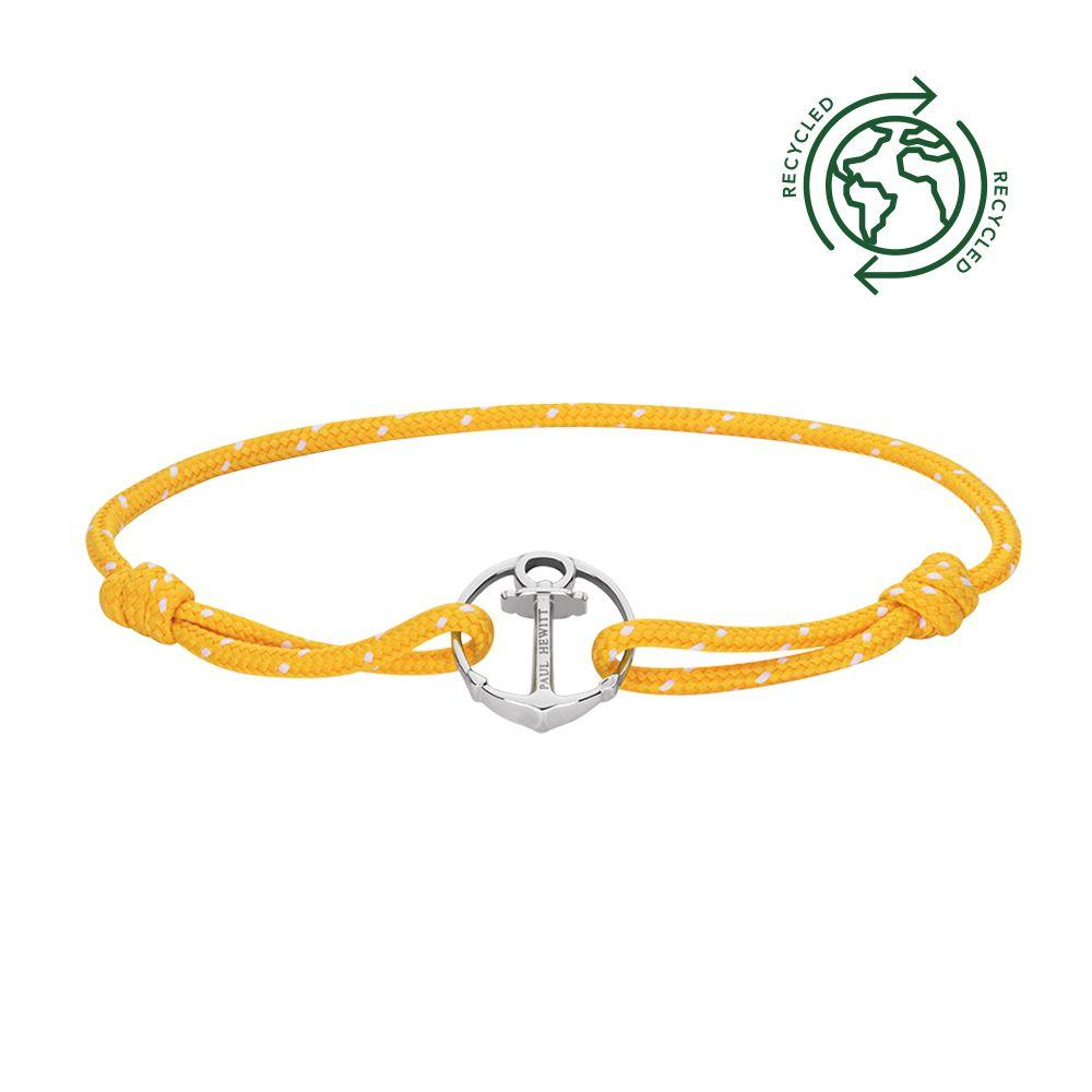 PAUL HEWITT PH002182 Bracelet from Steel and Yellow Fabric - Goldy Jewelry Store