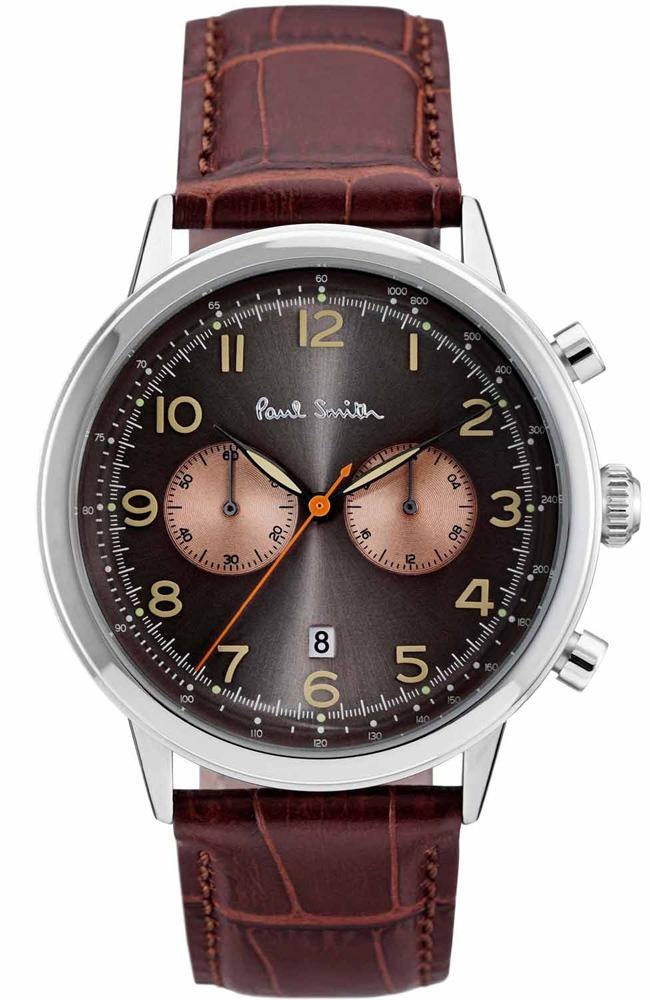 Paul Smith P10013 Precision Brown Leather Chronograph - Κοσμηματοπωλείο Goldy