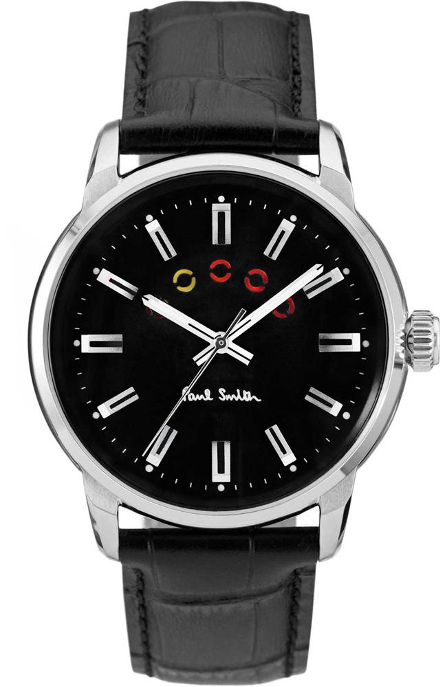 Paul Smith P10021 Block Black Leather Strap - Goldy Jewelry