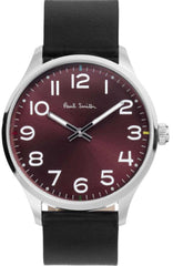 Paul Smith P10067 Tempo Black Leather Strap - Κοσμηματοπωλείο Goldy