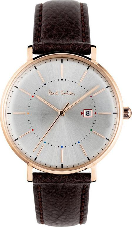 Paul Smith PS0070001 Petit Track Brown Leather Strap - Κοσμηματοπωλείο Goldy