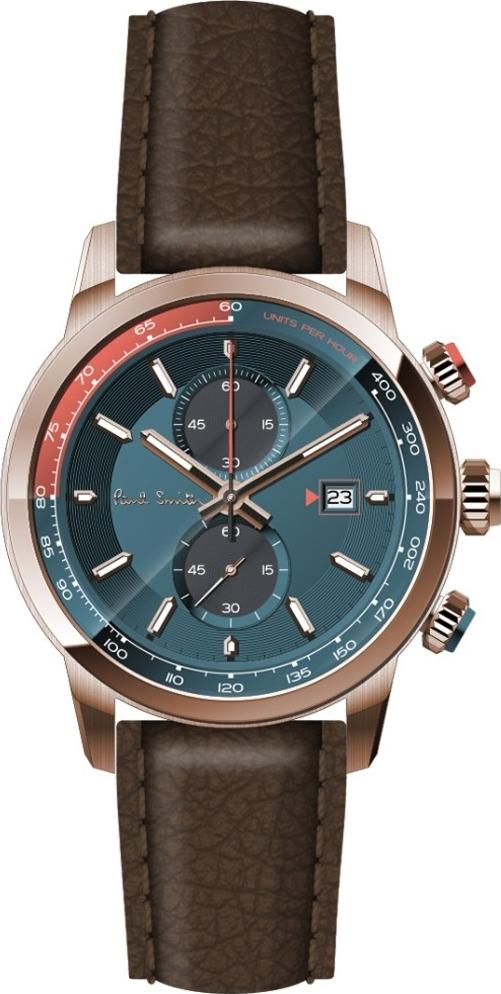 Paul Smith PS0110022 Chronograph Brown Leather Strap - Κοσμηματοπωλείο Goldy