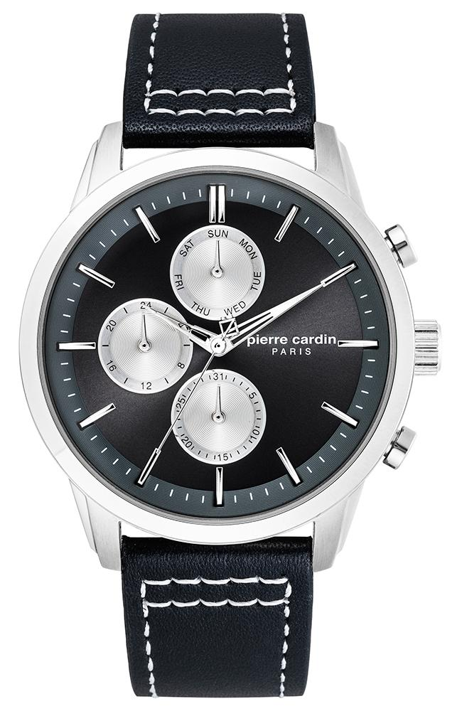 Pierre Cardin PC902741F03 Champerret Black Leather Strap - Κοσμηματοπωλείο Goldy