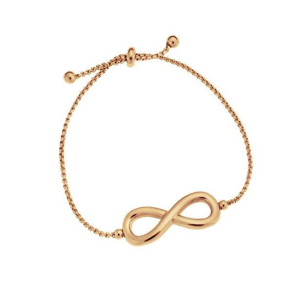Puppis PUB16457R Bracelet with Infinity Rose Gold Plated Steel - Goldy Jewelry Store