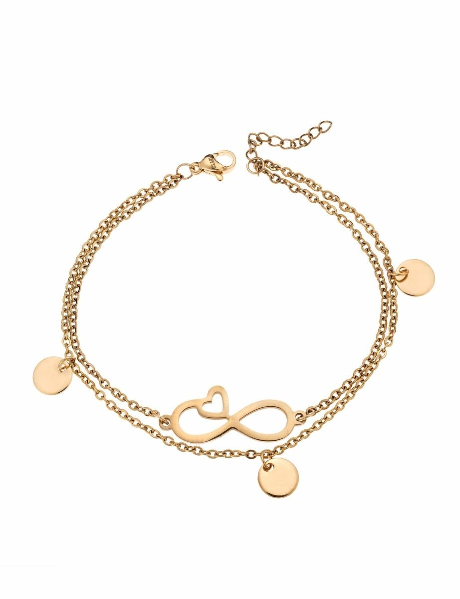 Puppis PUB26168G Gold Plated Bracelet with Infinity - Goldy Jewelry Store