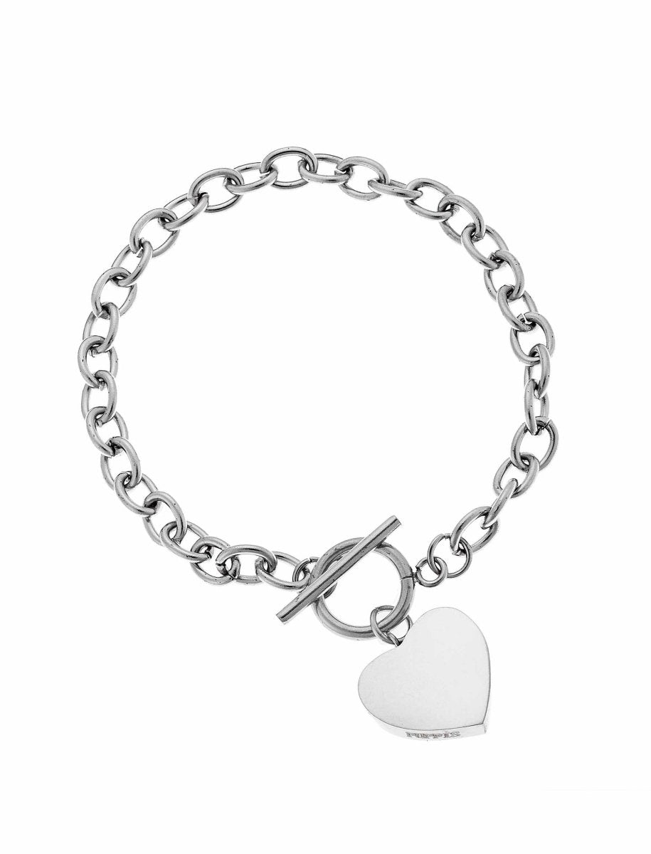 Puppis PUB29279S Steel Bracelet with Heart - Goldy Jewelry Store