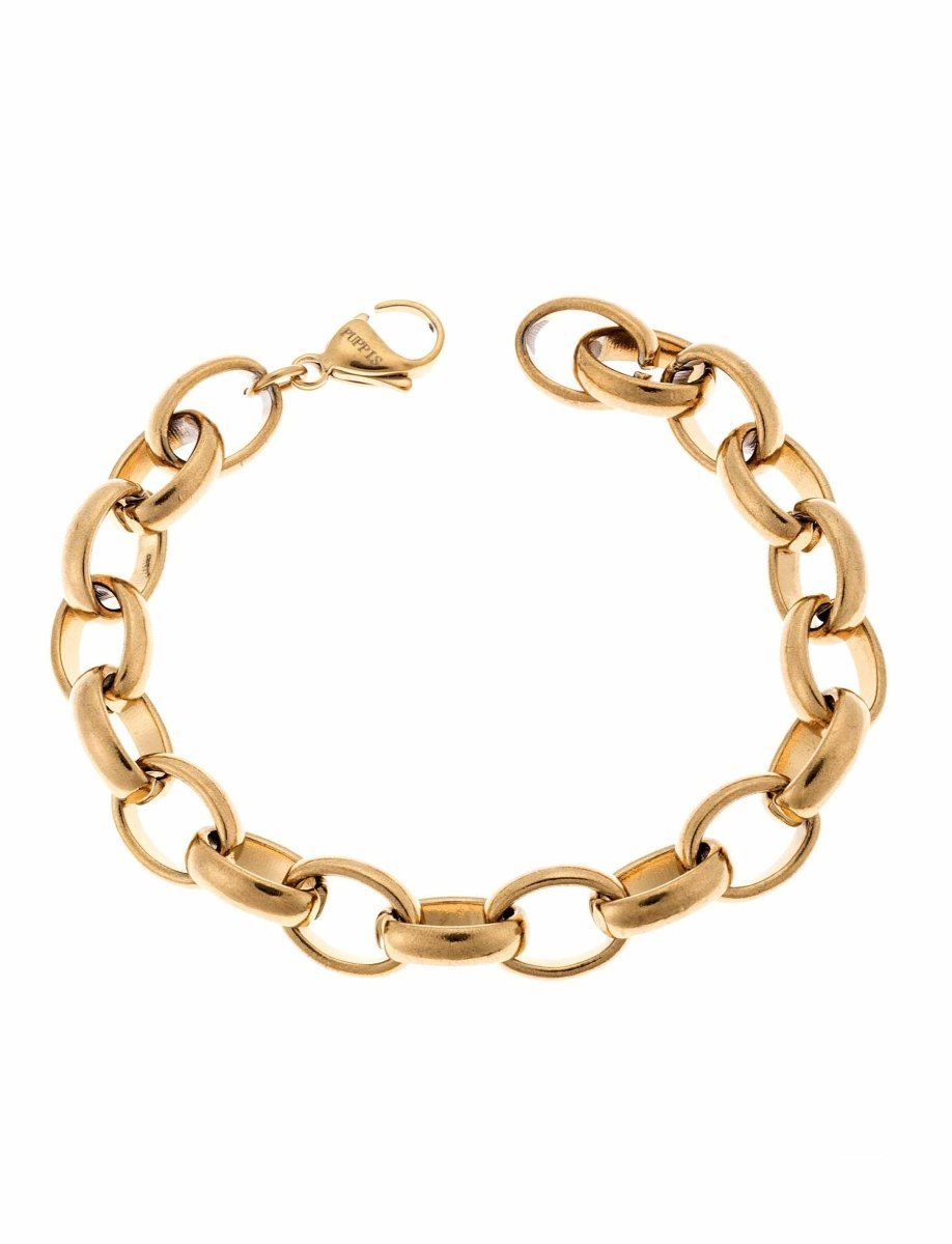 Puppis PUB30691G Gold Plated Bracelet with Rings - Goldy Jewelry Store