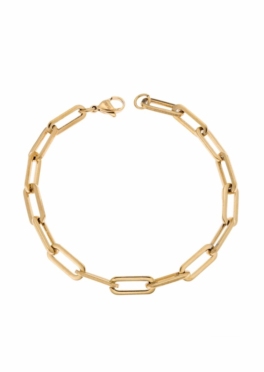 Puppis PUB30713G Gold Plated Bracelet with Rings - Goldy Jewelry Store