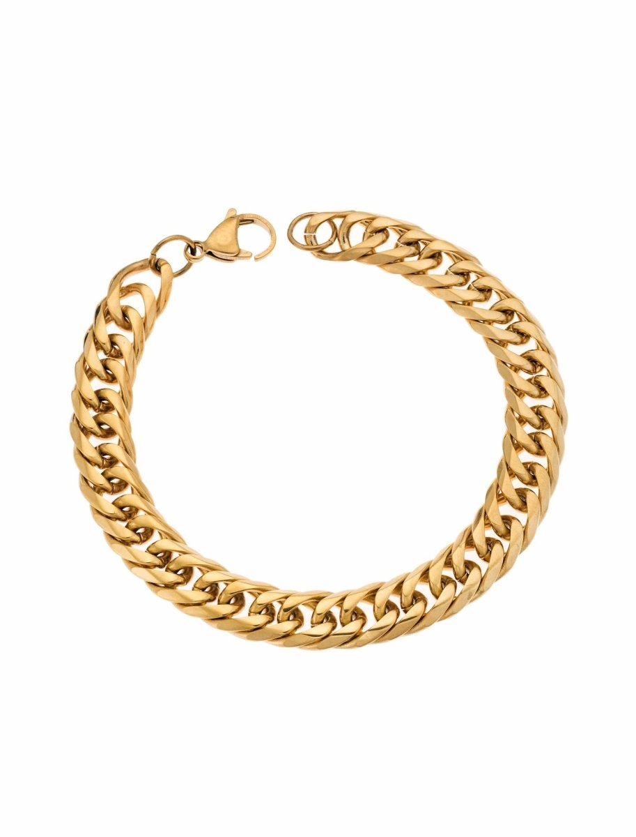 Puppis PUB69389G Gold Plated Bracelet with Rings - Goldy Jewelry Store