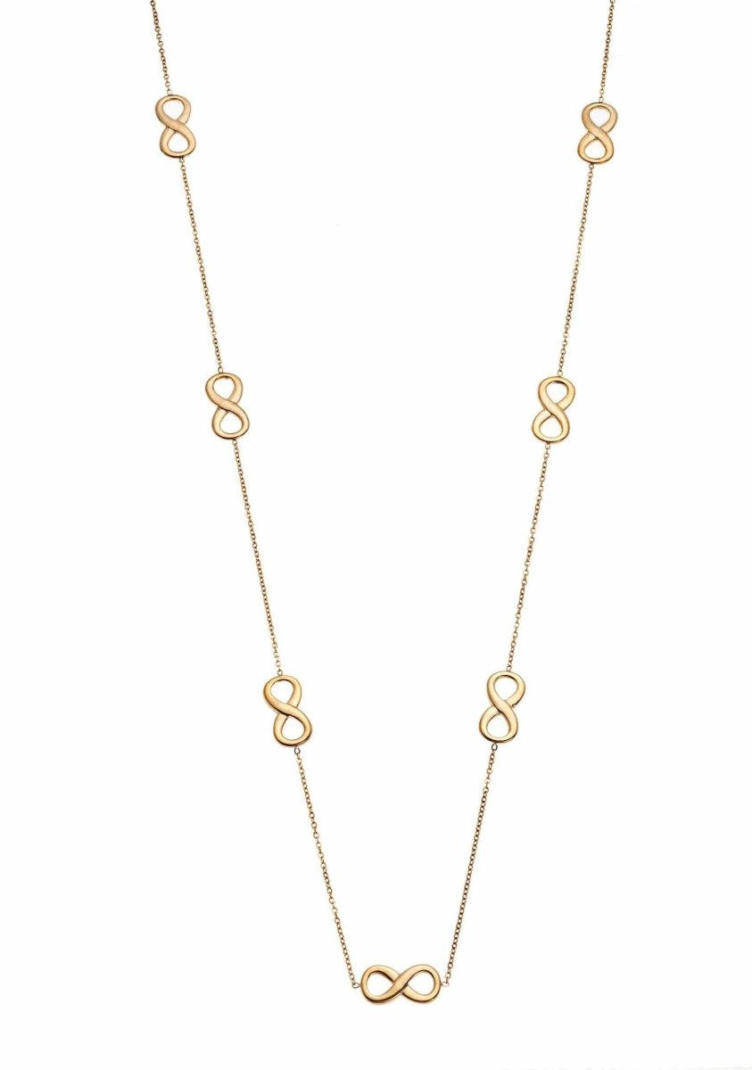 Puppis PUP04854G Gold Plated Necklace with Infinity - Goldy Jewelry Store