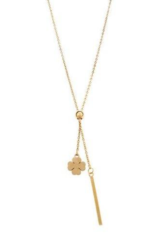 Puppis PUP27923G Gold Plated Necklace - Goldy Jewelry Store