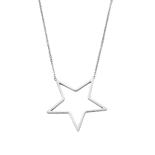 Puppis PUP32510S Steel Star Necklace - Goldy Jewelry Store