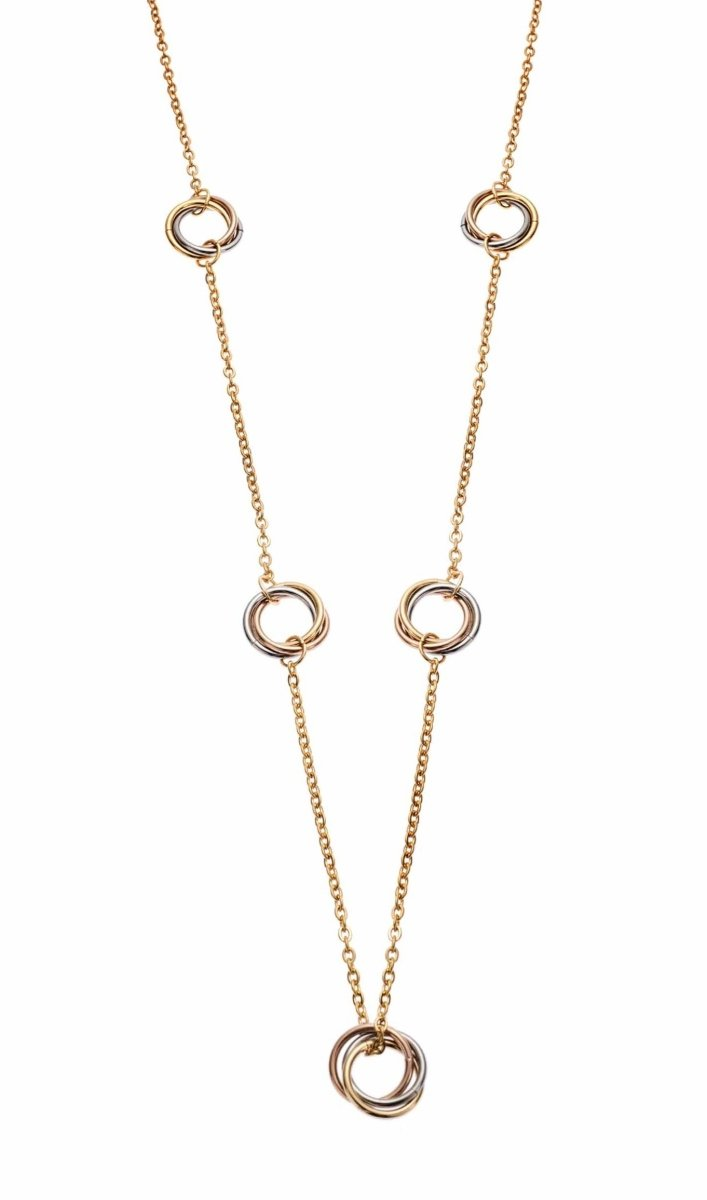 Puppis PUP33025G Gold Plated Necklace - Goldy Jewelry Store