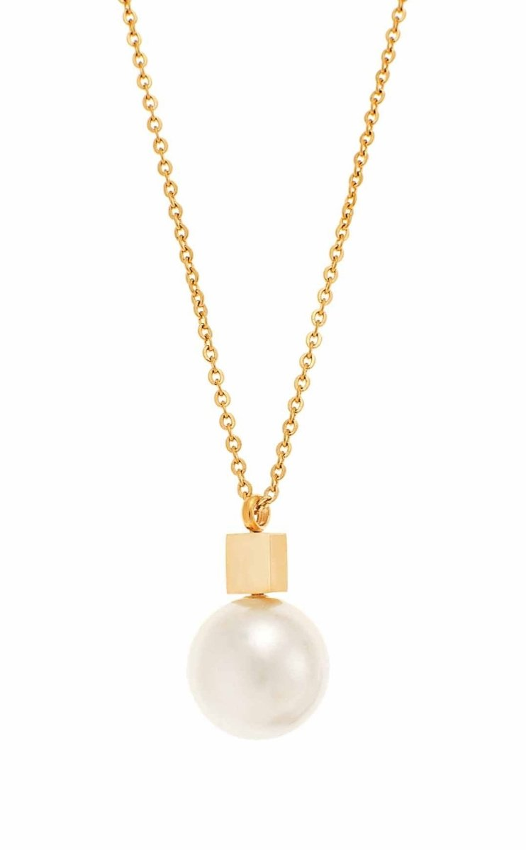 Puppis PUP63575G Gold Plated Necklace with Pearl - Goldy Jewelry Store