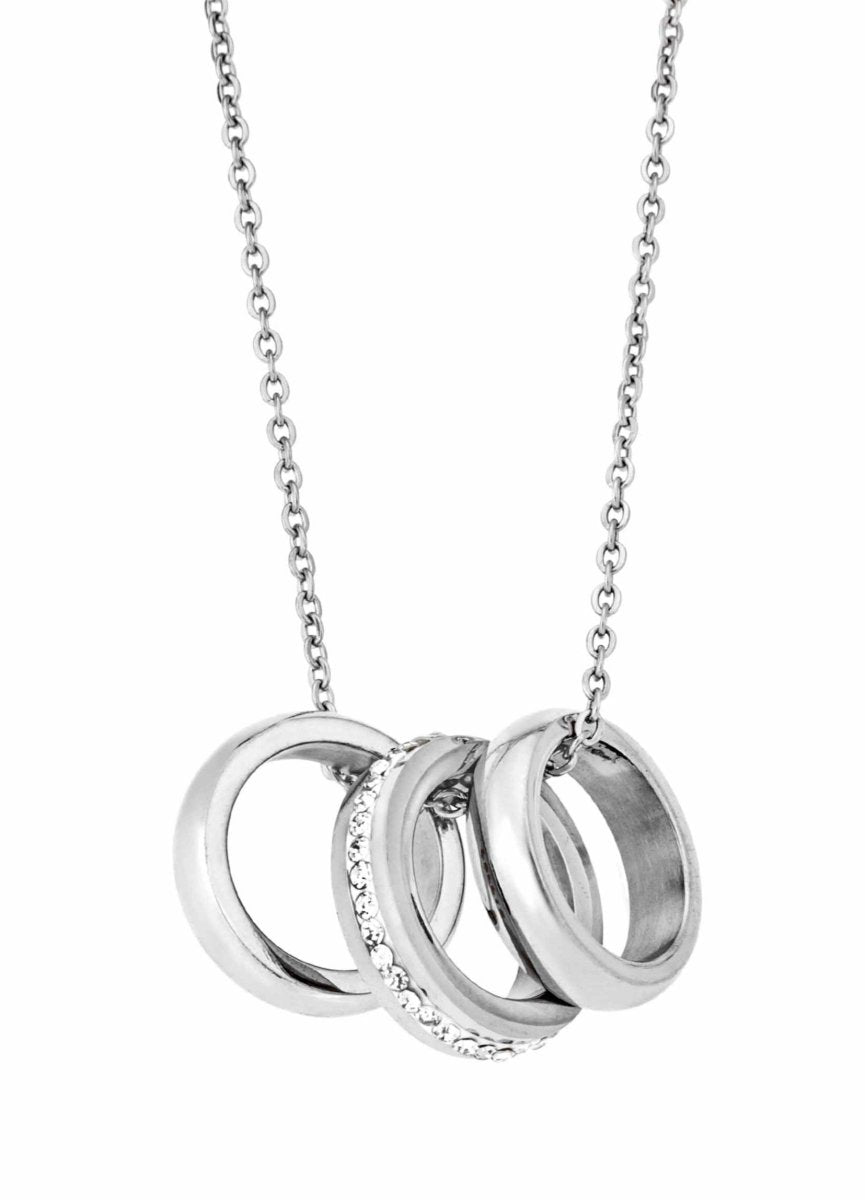 Puppis PUP97154S Stainless Steel Necklace with Rings - Goldy Jewelry Store