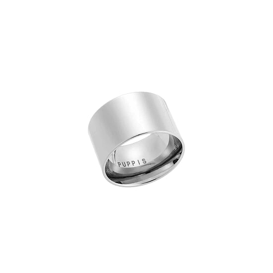 Puppis PUR21260S Wide Steel Ring - Goldy Jewelry Store