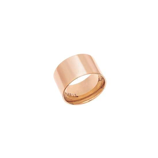 Puppis PUR21262R Wide Ring Made of Rose Gold Plated Steel - Goldy Jewelry Store