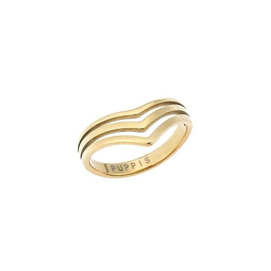 Puppis PUR42314G Gold Plated Ring - Goldy Jewelry Store