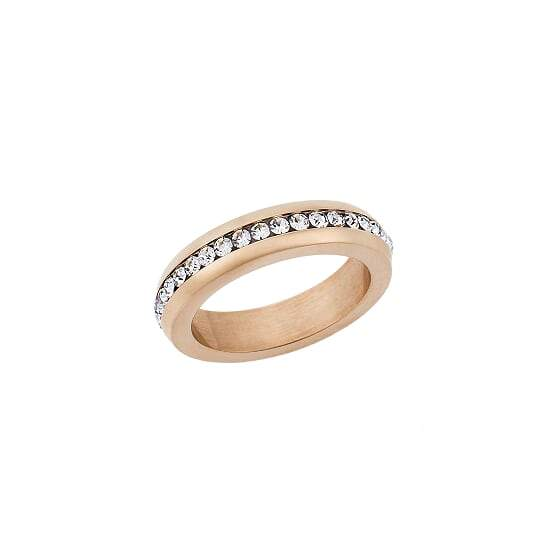 Puppis PUR44400R Rose Gold Plated Zircon Ring - Goldy Jewelry Store