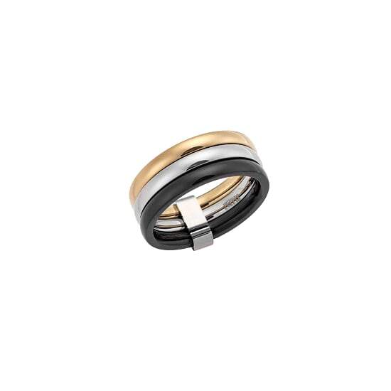 Puppis PUR48779G Tricycle Ring Made of Tricolor - Goldy Jewelry Store