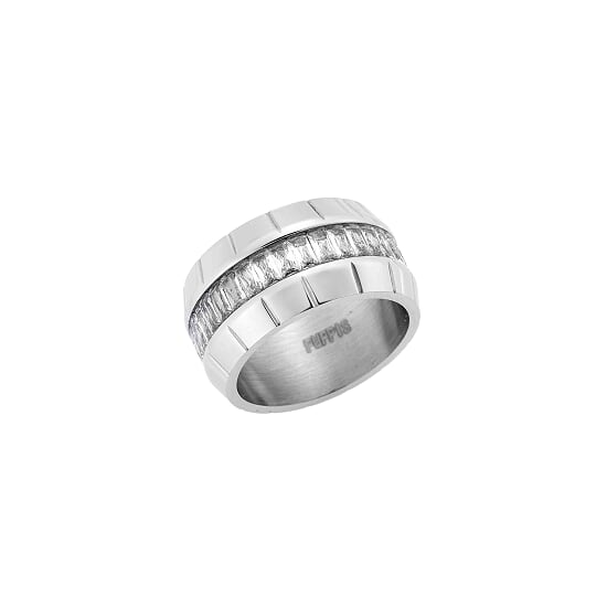 Puppis PUR50335S Wide Steel Ring - Goldy Jewelry Store