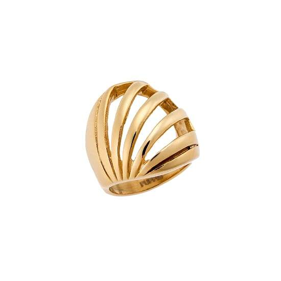 Puppis PUR52362G Gold Ring Loose Bomb Ring - Goldy Jewelry Store