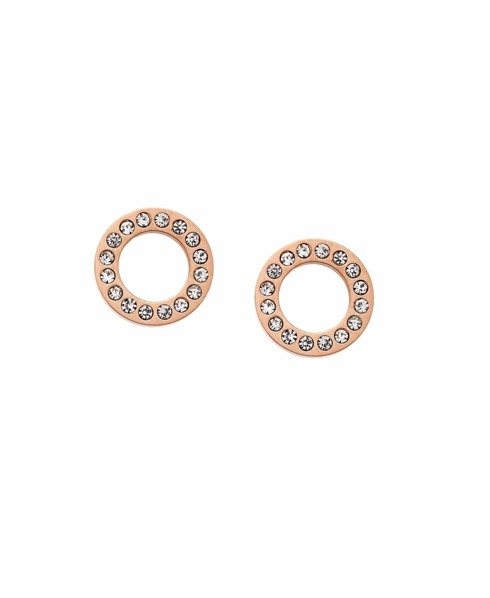 Puppis PUW20322R Rose Gold Plated Earrings - Goldy Jewelry Store