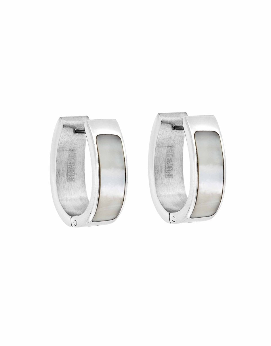 Puppis PUW93279S Earrings Stainless Steel Rings - Goldy Jewelry Store