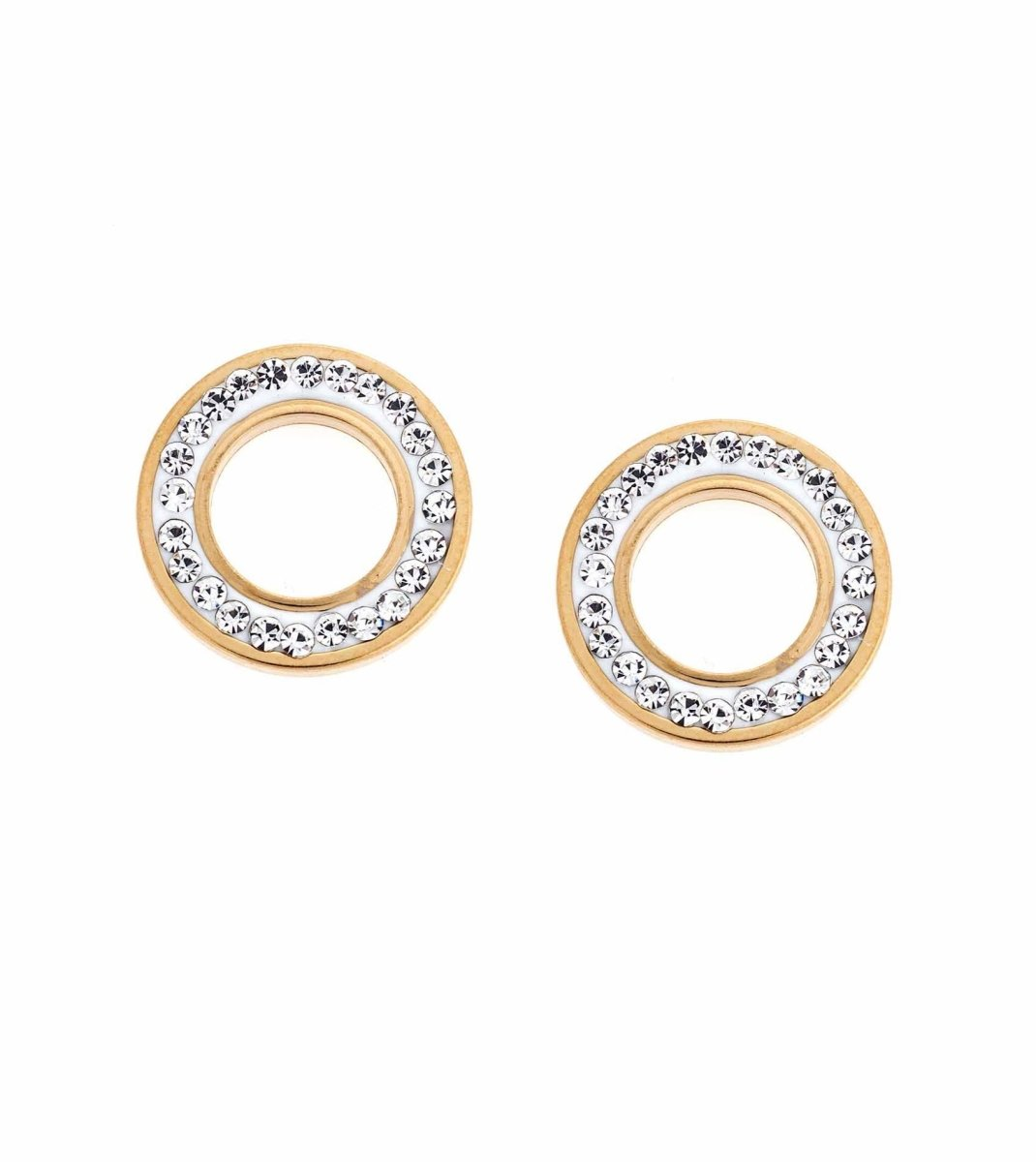 Puppis PUW96574G Gold Plated Earrings - Goldy Jewelry Store