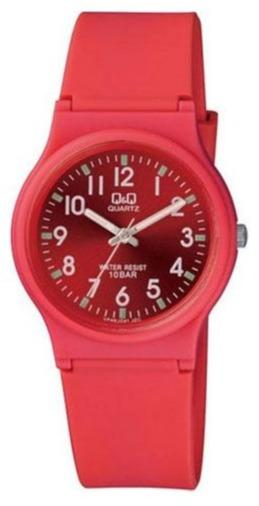 Q&Q VP46J041Y Red Rubber Strap - Goldy Jewelry
