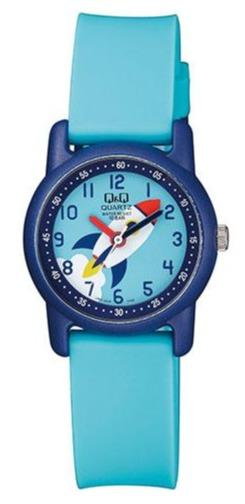 Q&Q VR41J008 Kids Light Blue Rubber Strap - Κοσμηματοπωλείο Goldy