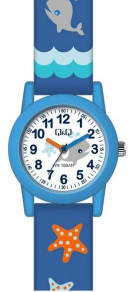 Q&Q VR99J009Y Kids Blue Rubber Strap - Κοσμηματοπωλείο Goldy