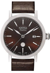 ROAMER R101638416501 Competence Classique Automatic Brown Leather Strap - Κοσμηματοπωλείο Goldy