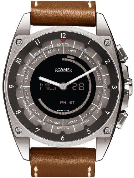 ROAMER R300903415501 RLine Roaming Brown Leather Strap - Κοσμηματοπωλείο Goldy