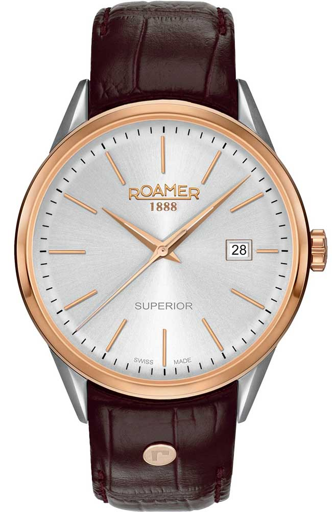 ROAMER R508833491505 Superior Brown Leather Strap - Goldy Jewelry