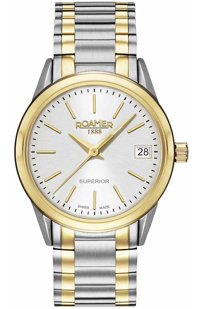 ROAMER R508856471551 Superior Two Tone Stainless Steel Bracelet - Goldy Jewelry