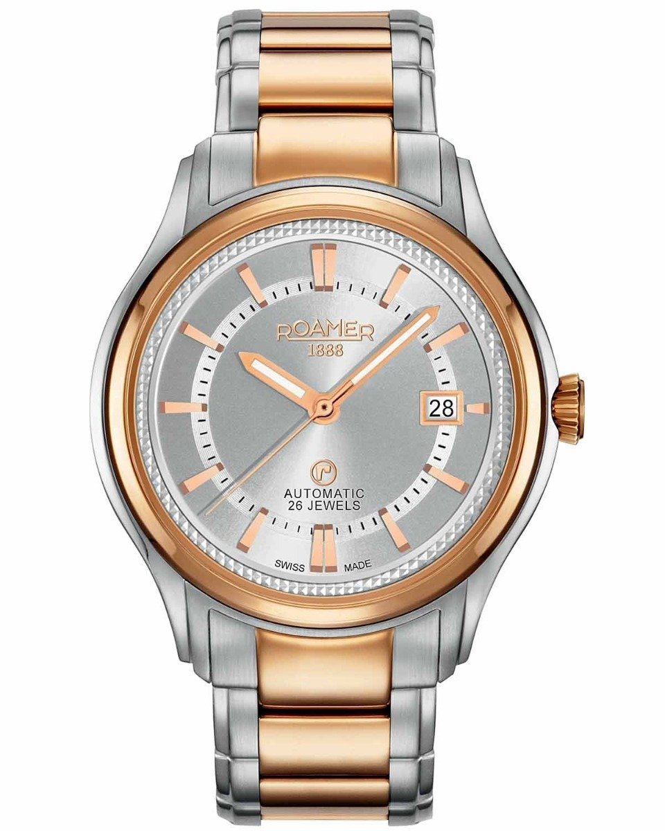 ROAMER R532660491560 R-Matic Automatic Two Tone Stainless Steel Watch - Jewelry Store Goldy