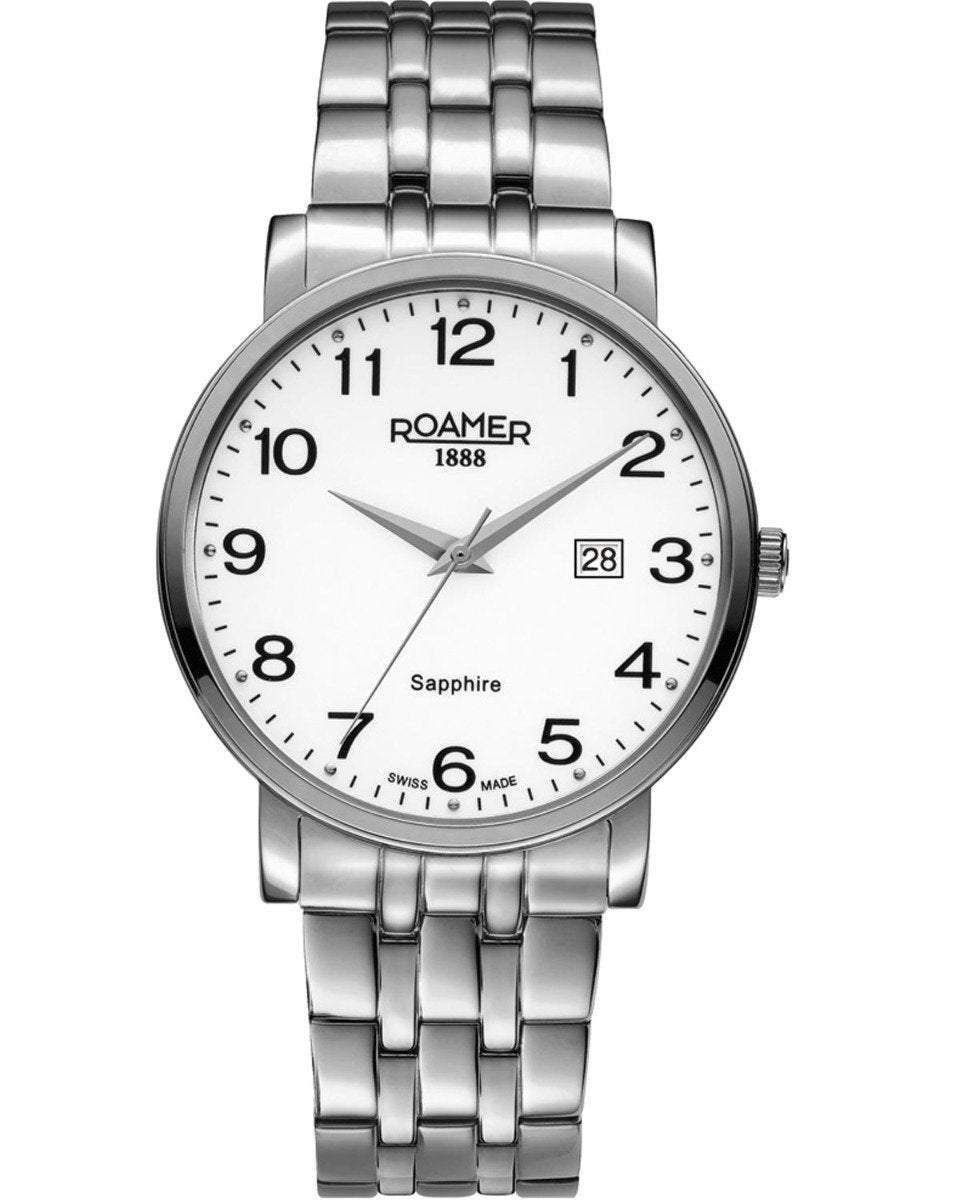 ROAMER R709856412670 Classic Line Stainless Steel Watch - Κοσμηματοπωλείο Goldy